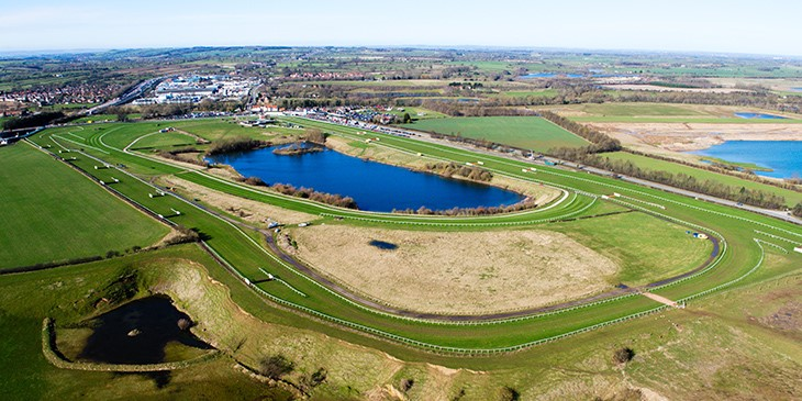 Drone view of racecourse